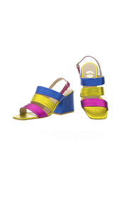 TRICOLOR sandal in metallic leather