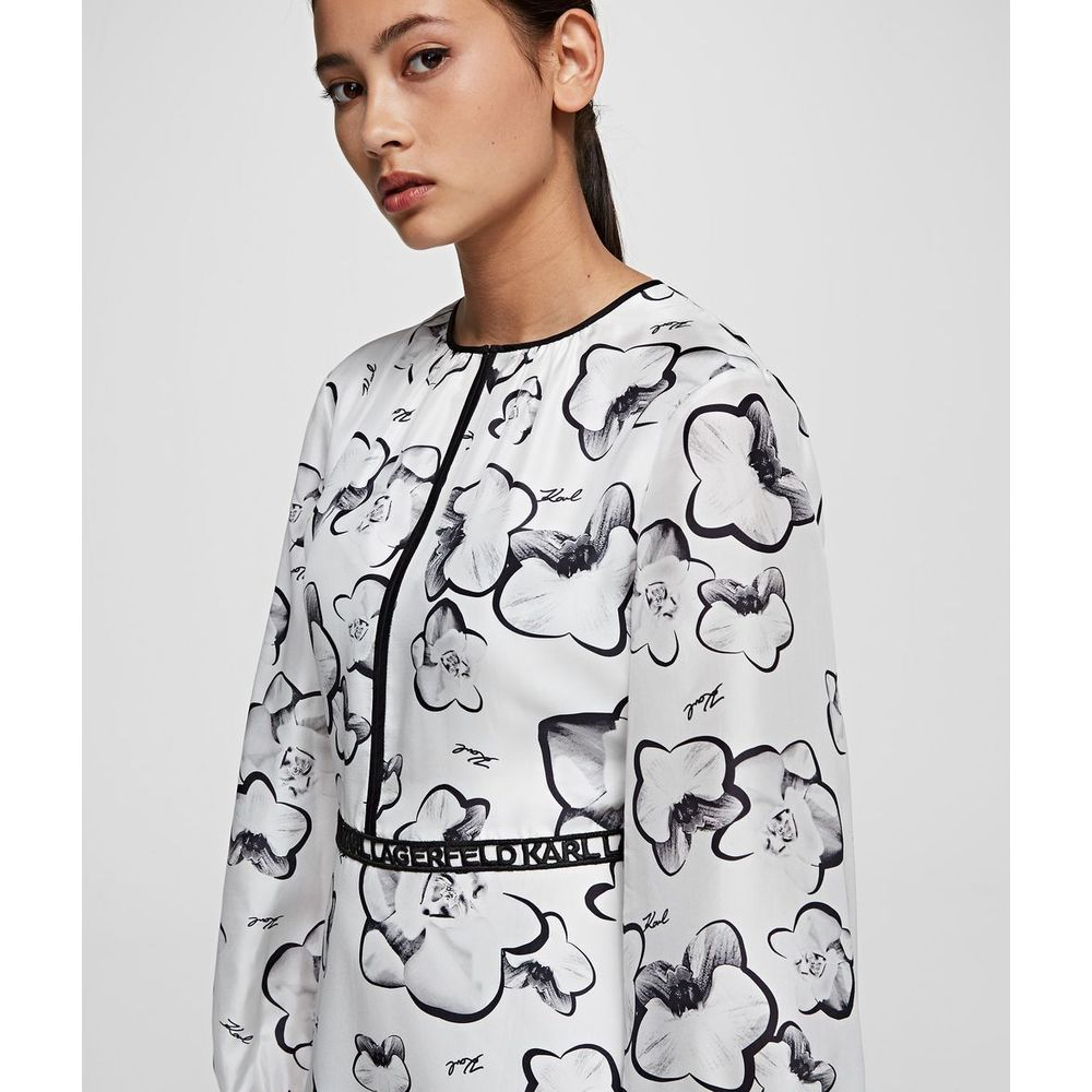 Karl Lagerfeld White Orchid Print Dress Karl Lagerfeld