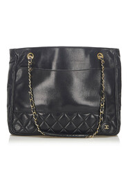 CC Timeless Lambskin Chain Tote Bag Leather