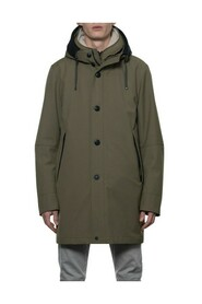 Woolen look 3-in-1 parka in 3-layer fabric with detachable interior