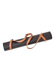 Bærestrop til yogamåtte  Cognacfarvet læder og messingdetaljer