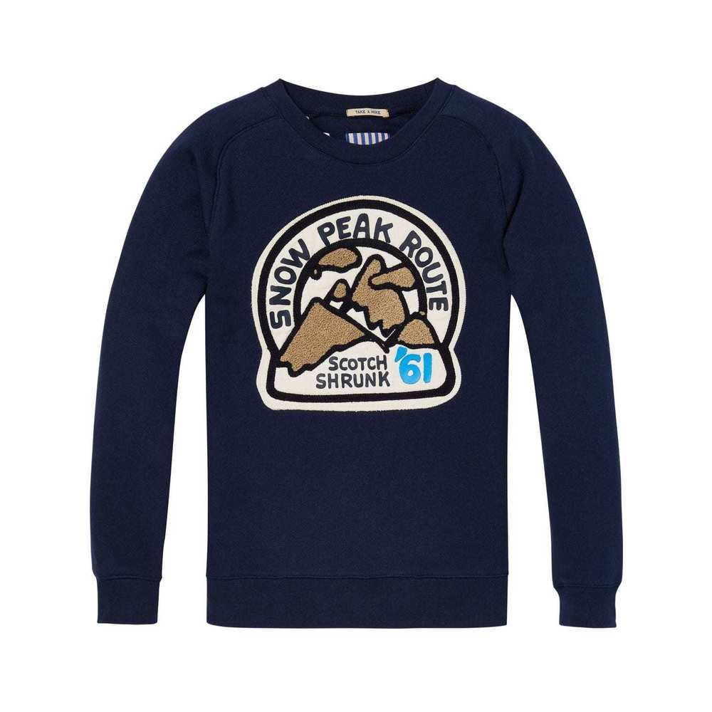 Scotch Shrunk Crew neck Sweat Navy