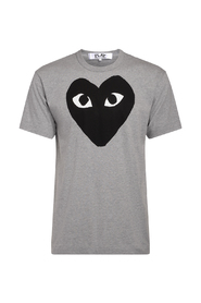 Grey crew neck PLAY T-Shirt with black heart.