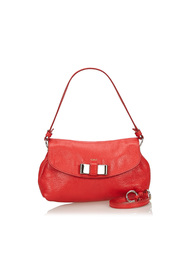 Leather Lily Bow Crossbody Bag