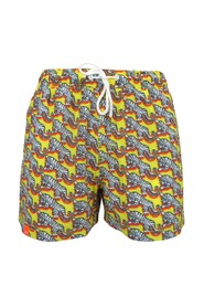 Swim shorts with tigers