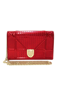 Pre-owned Micro-Cannage Diorama Patent Leather Crossbody Bag