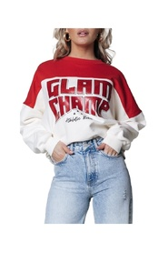 Glam Champ Dropped Shoulder Sweat
