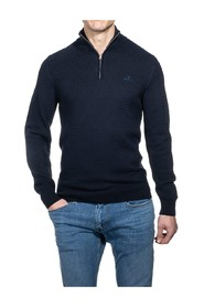 Basketweave Half-Zip Sweater