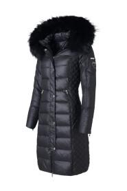 Długa kurtka typu Beam z naturalnym futrem