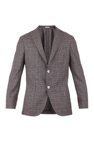 Single-breasted wool and silk jacket