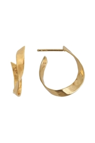 ørering - Twisted Hammered Creol Earring, Right Gold