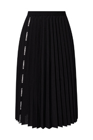 Pleated skirt with logo