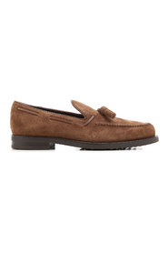 Tassels detailed suede loafers