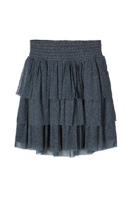 Mini skirt tiered glittery