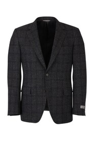contemporary micro picture motif jacket