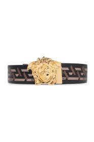 Belt with Medusa head buckle
