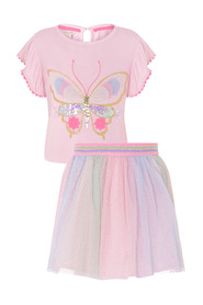 Butterfly top and skirt set