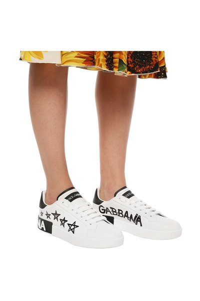 WHITE Printed sneakers | Dolce & Gabbana | Sneakers