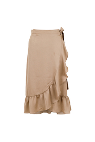 Mika solid Wrap Skirt Dusty Taupe