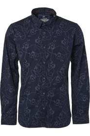 Noize Shirt, l/s, all over printed  Lange mouw Blauw