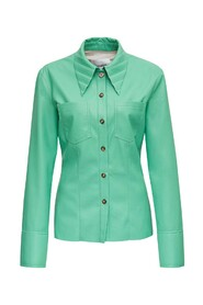 Shirt with Pleated Collar