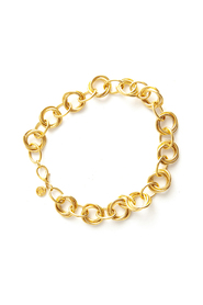 Round double link necklace