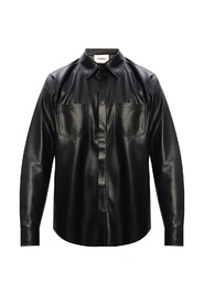 Vegan-leather shirt