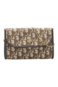 Oblique Canvas Chain Shoulder Bag