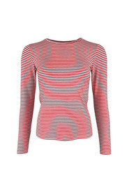Polly LS Coral striped t-shirt