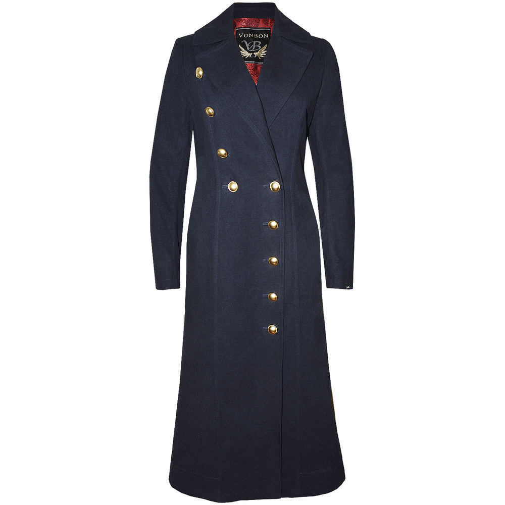 VONBON Long Coat Navy