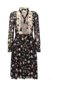 Dress Smock Plumetis Flower Mix