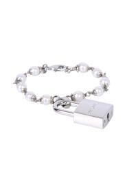 pearl padlock bracelet