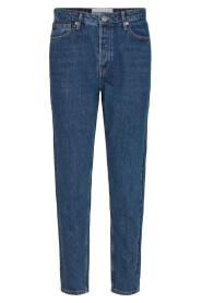 Denim Hepburn Hw Mom Wash Prato Jeans
