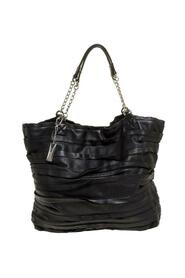 Pre-owned Ruffle Leather Chain Tote
