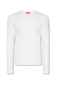 Ribbed long-sleeved T-shirt