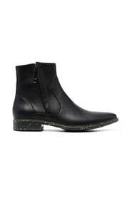 Paperclip Panelled Ankle Boots