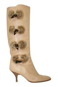 Winter Knee Length Boots with Decorations