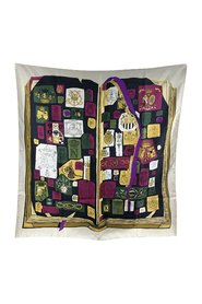 Pre-owned Silk Scarf Chiffres et Monogrammes 1962 Coutin Original Issue