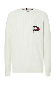 Flag embroidery Ribbed Jumper