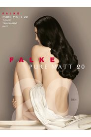Sort Falke Pure Matt 20 denier longs