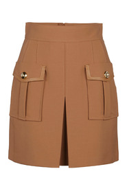 Mini skirt with gold buttons