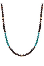 Men's Beaded Necklace with Ebony and Bali Turquoise