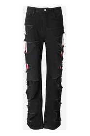 Slashed Relaxed-Fit Jeans