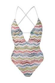 Zigzag pattern swimsuit