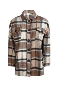 Oversized Check Blouse