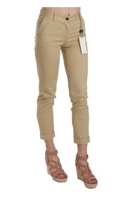 Casual Fitted Cotton Trousers