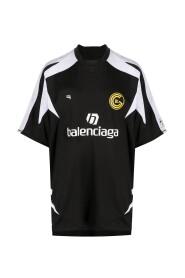 Panelled Logo Soccer Shirt