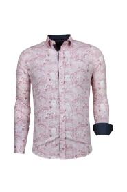 Slim Fit Overhemd - Blouse Allover Flower Pattern