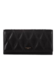 Quilted Leather Long Wallet