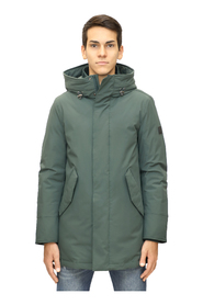 Stretch mountain parka with hood